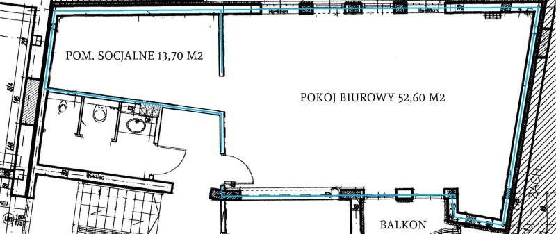 Lokal 52,6+13,7 m2