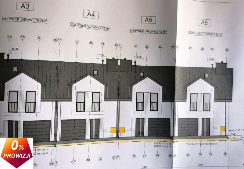 Rzeszów, os. Budziwój, nowe domy w zabudowie szeregowej w realizacji